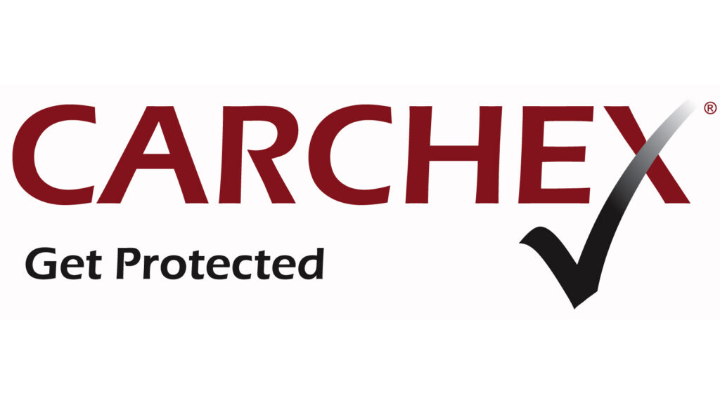 """CARCHEX Logo With """"Get Protected"""" slogan."""