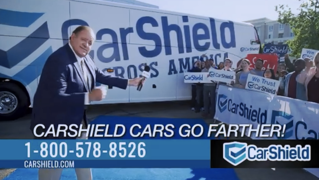 CarShield warranty coverage advertisement with Chris Berman.