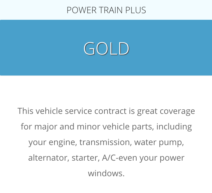 A description of this plan from the company website at: https://carshield.com/protection-plans/