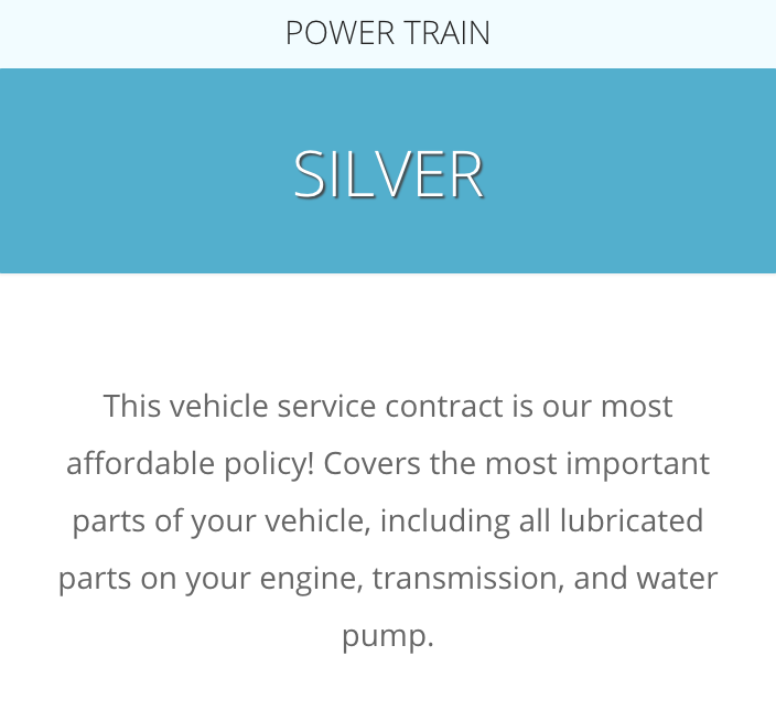 A description of the CarShield Silver Plan from the CarShield website at: https://carshield.com/protection-plans/