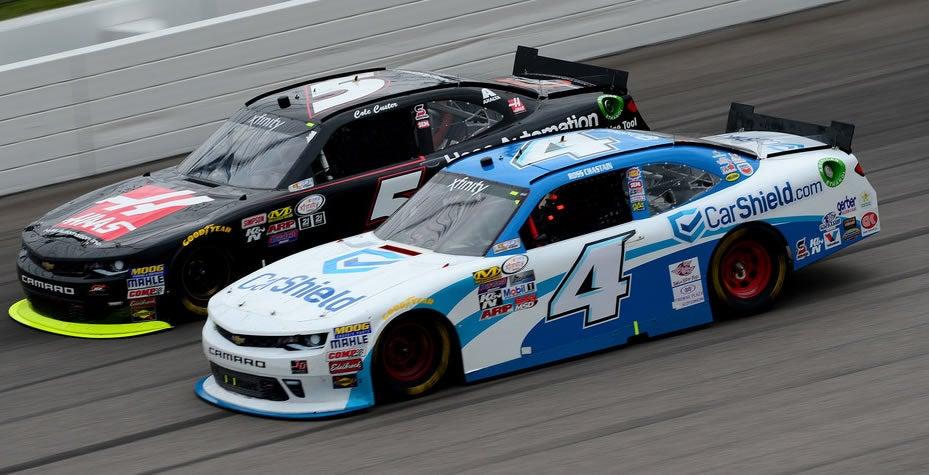 CarShield warranty company NASCAR race car.